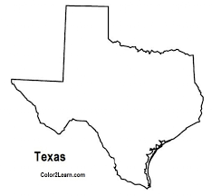 map of texas coloring page virtren com