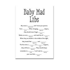 baby mad libs black white simple baby archives instant printables