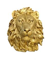 gold lion statues gold lion mount wall statue faux taxidermy lion