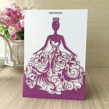 Gold Invitation Card Aliexpress Com Buy 50pcs Lot Elegant Silver Purple Gold