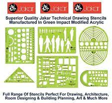 Interior Design Drafting Templates by Drawing Stencils Ebay