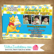 doc pooh bear birthday invitations u2013 colors winnie the pooh