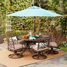 Solid Cast Aluminum Patio Furniture by Folwell 7pc Cast Aluminum Dining Set Threshold Target
