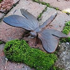 cast iron dragonfly garden ornament vintage finish co uk