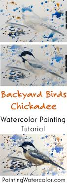 watercolor tutorial chickadee backyard bird sketch chickadee watercolor painting tutorial