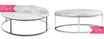 Cb2 Marble Coffee Table Design Evolution High Low A Marble Coffee Table