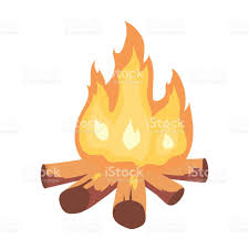 campfire of stone age icon in cartoon style isolated on white
