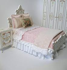 How To Make Doll House Furniture Miniature Dollhouse Bed Linens Plans Unique Custom Bedroom Set By