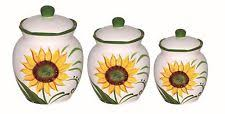 sunflower canisters for kitchen sunflower canisters ebay