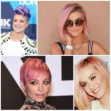 2017 pastel colored short hairstyles from hollywood u2013 haircuts and