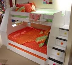twin over full bunk bed with stairs everydaybunkbeds com