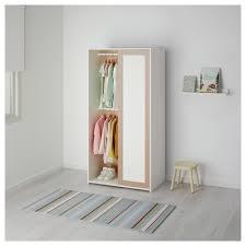Ikea Chambre Bebe Hensvik by Sniglar Wardrobe Beech White 81x50x163 Cm Wardrobes Childrens