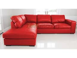 Large Corner Sofa Left Hand Large Corner Sofa Red Faux Leather With Chaise Lounge