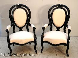 Victorian Armchairs Fine And Super Decorative Pair Of Victorian Armchairs For Sale