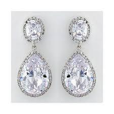 tear drop earrings cz teardrop earrings bridal earrings cz tear