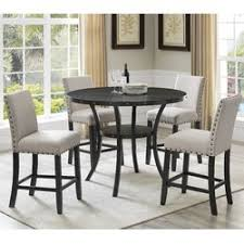 Roundhill Furniture Biony Espresso Wood  Piece Dining Set - Espresso dining room set