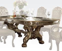 traditional dining room furniture traditional dining table dresden gold by acme furniture ac63150