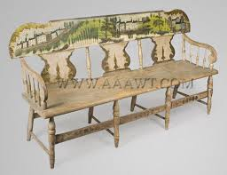 Antique Windsor Bench Antique Furniture Benches Highly Painted Chairs