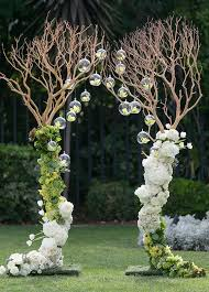 wedding arches made of tree branches wedding arch decorations fashion trend