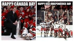 Canada Hockey Meme - happy canada day happy usa independence day hockey meme on me me