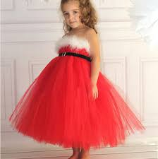 fashion christmas party xmas clothing kids children u0027s gilrs red