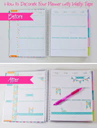 How To Decorate A Backpack With Sharpie How To Decorate Your Planner With Washi Tape The Chic Life