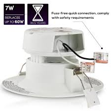 j box led lights 4 led recessed downlight with junction box 7w 60w equivalent