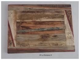 plateau de bureau en bois tables bistrot plateaux de table en bois recyclé sur mesure