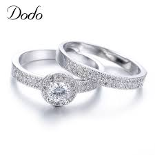 wedding ring sets for women aliexpress buy hot women wedding ring sets white gold color