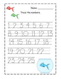 number trace worksheets for kids activity shelter