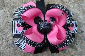 boutique hair bows large minnie mouse hair bow boutique hair bow disney hair bow
