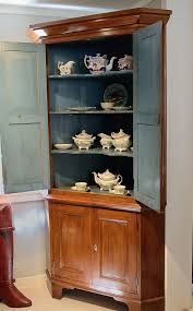 federal cherry pine corner cupboard sold raymond james antiques