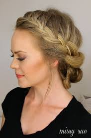 hairstyles to hide ears that stick out and cover french braid half with a bun