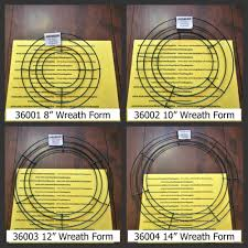 wire wreath forms 8 12 and 14 sizes