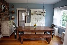dining room tables farmhouse style with antique sideboard