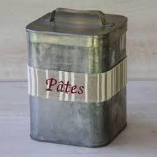boite cuisine vintage décoration vintage cuisine boite rangement en zinc cuisine