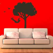 blue fish wall decals set of 20 wall decal world tree with child nursery wall decal mural