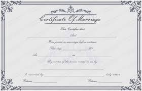 editable marriage certificate template