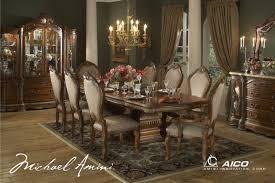 cortina luxury 7 piece traditional formal dining room set aico