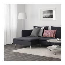 ikea de sofa söderhamn 4 zitsbank met chaise longue samsta donkergrijs ikea