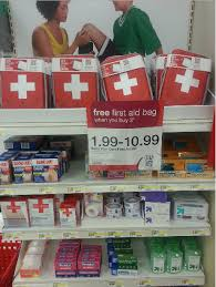 target free aid bag when you buy 3 participating items