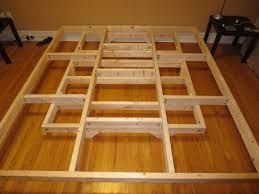 Build A Platform Bed Frame Plans by Bed Frames Floating Platform Bed Frame Diy King Size Platform