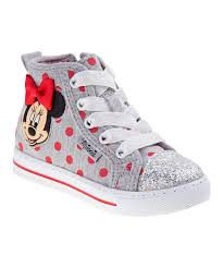 minnie mouse light up shoes minnies bow tique gray red minnie mouse hi top light up sneaker