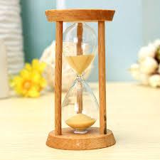 3 minutes wooden sand clock sand glass hourglass clock home decor