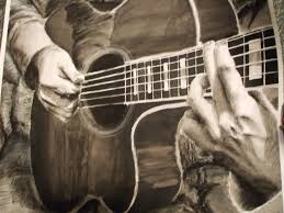 pencil sketch of guitar pencil art drawing