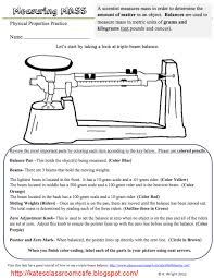 triple beam balance worksheet problems science classroom