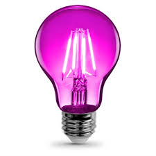 light bulb shape code a19 feit electric 0 w equivalent pink a19 led decorative light bulb