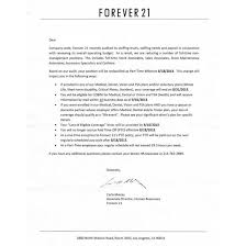 leaked memo shows forever 21 demoting full timers to part time