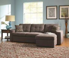 Grey Button Sofa Coaster 501677 Gus Sectional Sofa Chaise With Storage And Pull Out