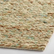 blue and green tie dye chunky jute symeon area rug world market